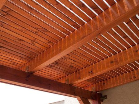 Classical design pergola arbor made of wood
