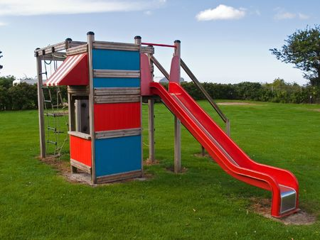 Modern design colorful playground and slide facilities photo