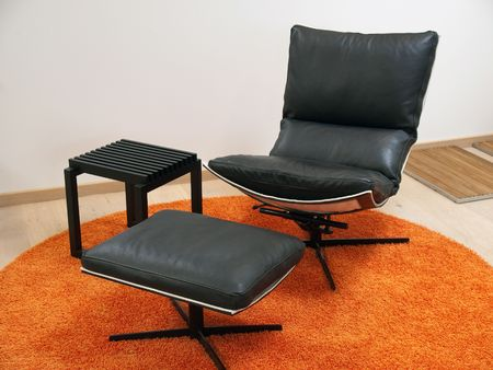recliner: Modern Scandinavian design leather recliner chair