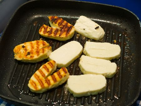 Traditional food from Cyprus Halloumi Cheese Stock Photo