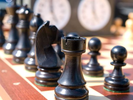 Chess game make the right move ready to fight photo