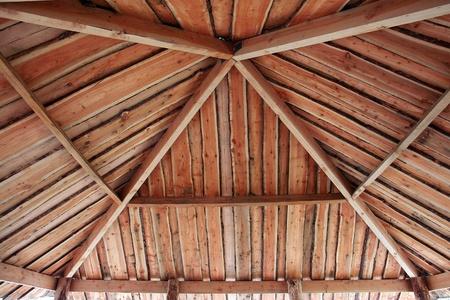 gazebo: Traditional classical design garden pergola arbor made of wood