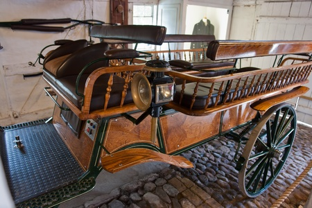 Vintage old retro classical horse carriage hand made from metal and wood Stock Photo - 11481774