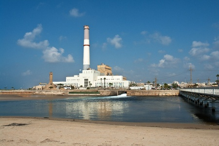 coal plant: Riding coal electricity power station Tel-Aviv Israel