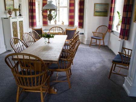 country house style: Interior design image of a beautiful classical country style dining room