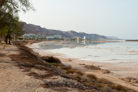 dead sea: View of the health skin Psoriasis treatment  hotels in Dead Sea Israel coastline