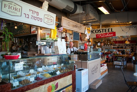 Famous indoors mediterranean style food maket in the old port of  Tel Aviv Israel Stock Photo - 17003160