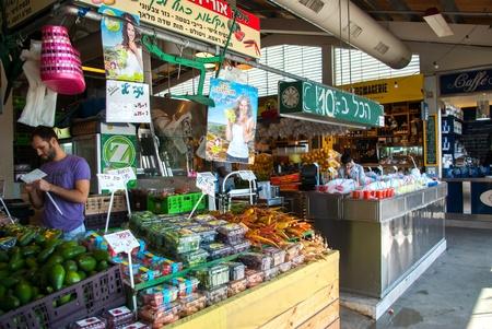 israel agriculture: Famous indoors mediterranean style food maket in the old port of  Tel Aviv Israel