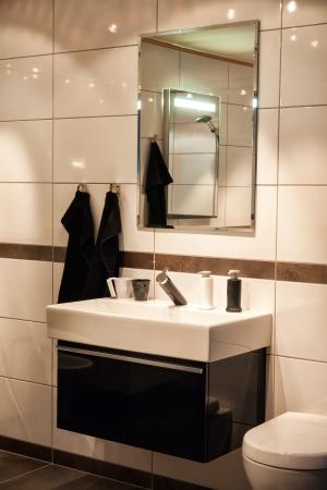Beautiful Large Modern Trendy Design Bathroom in Luxury Home Stock Photo - 17932460