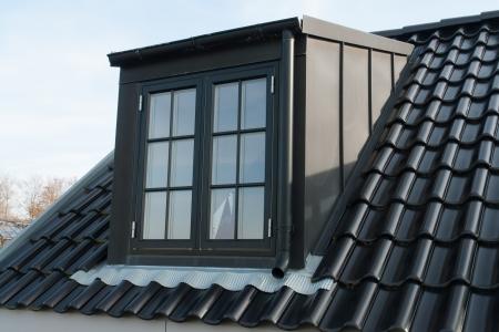 Modern design vertical roof water proof window with black tiles