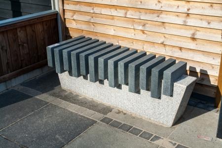 modern garden: Modern style design stone marble garden park bench