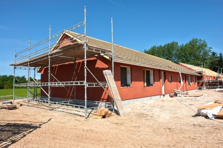 project property:  New real estate project residential home house construction site