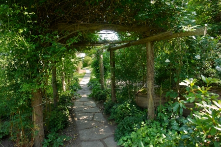 arbor: Beautiful gardening project - creative garden tunnel archway in a classical garden