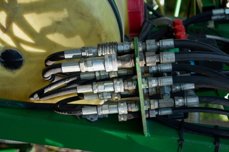 Hydraulic Pressure Hoses System of a machinery industrial detail