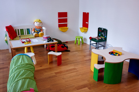 Colorful modern play children