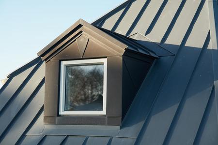 ブラック ライト金属カバーとモダンなデザイン縦の屋根窓