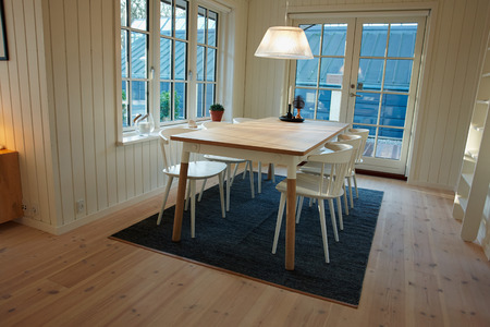 danish: Modern dining room Danish Scandinavian trendy clean lines  interior design