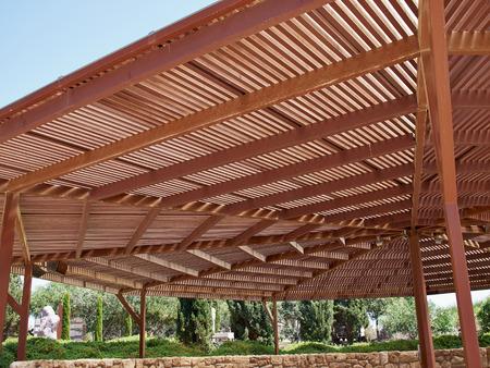 gazebo: Classical design big pergola arbor made wood