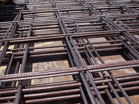 rejas de hierro: Material de las barras de acero de la construcción del hierro utilizado para reforzar el hormigón