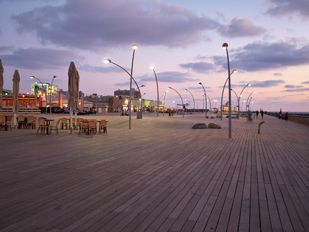 The old port of Tel Aviv Israel wooden deck famous tourist and local attraction