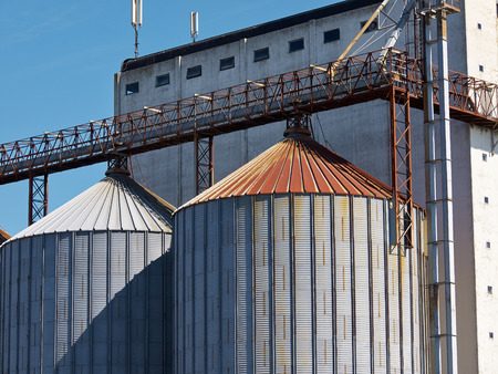agriculture industrial: Farm grain silo agriculture industrial production image
