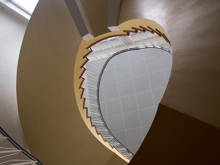 spiral staircase: Upside view of a spiral staircase classical desgin architecture element