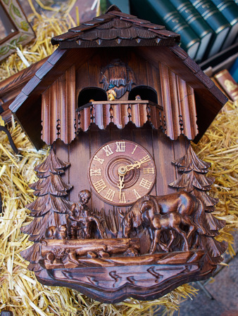 cuckoo: Famous Cuckoo Clock From The Black Forest  Germany for sale in a market