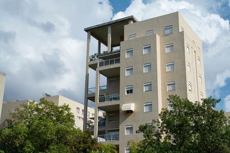 executive apartment: Modern design luxurious executive apartments city condominium building Stock Photo