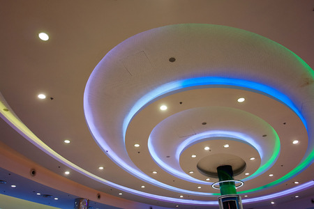 Modern interior decoration design beautiful ceiling lights in different colors