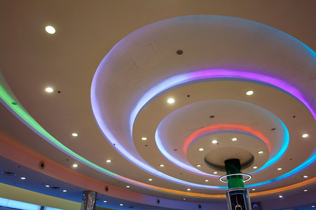 ceiling: Modern interior decoration design beautiful ceiling lights in different colors