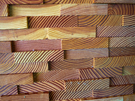 wall covering: Decorative modern trendy wall covering paneling made of wooden planks
