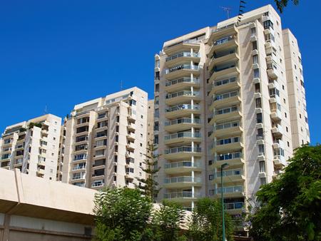 Modern design luxurious executive apartments city condominium building 스톡 콘텐츠