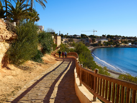 Famous promenade of Cabo Roig. Costa Blanca. Spain great summer travel destination