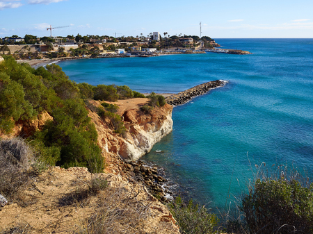 Famous coast beach of Cabo Roig. Province of Alicante. Costa Blanca. Spain great summer travel destination