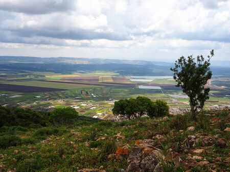 Typical landscape of the Upper Galilee area Israel Holy Land major tourist attraction