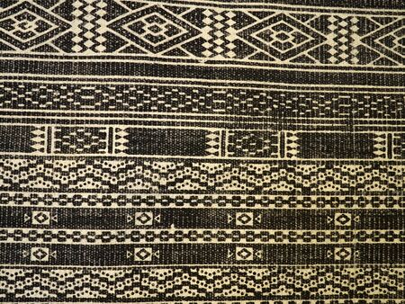 Black and white oriental design carpet rug pattern - background for graphics and text