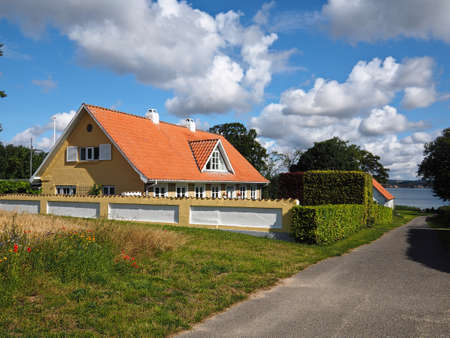 Beautiful classical summer house by the sea ocean Funen in Denmark - great escape on vacations