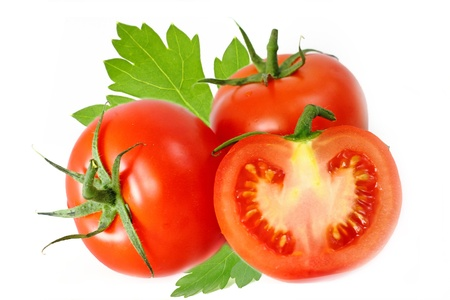 volatility: Tomates aislados en blanco