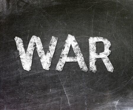 War written on a chalkboard                   Stock Photo - 18867747
