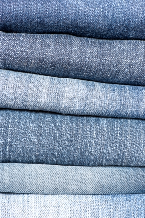 close up of jeans s pile