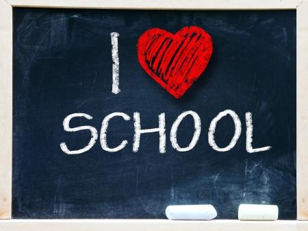 I love school written on a chalkboard
