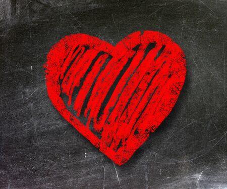 Heart health symbol on the school board Stock Photo - 19056516
