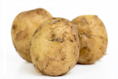 Potato isolated on white background High-resolution photography