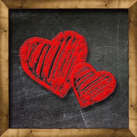 Heart health symbol on the school board Stock Photo - 19094805