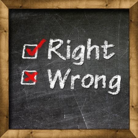 Right Wrong choice photo