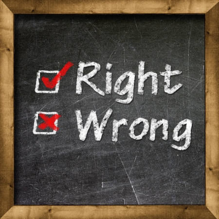 Right Wrong choice Stock Photo - 19094808