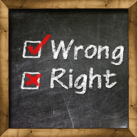 Right Wrong choice Stock Photo - 19094818