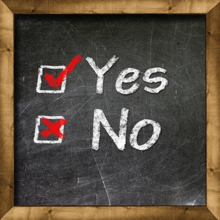 Yes no choice Stock Photo - 19094813