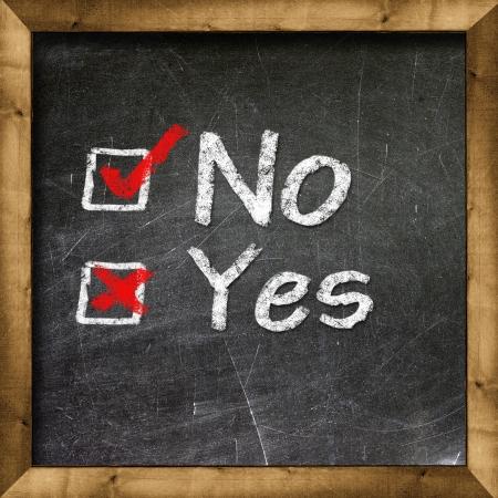 Yes no choice Stock Photo - 19094814