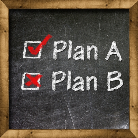 Plan A Plan B choice Stock Photo - 19094826